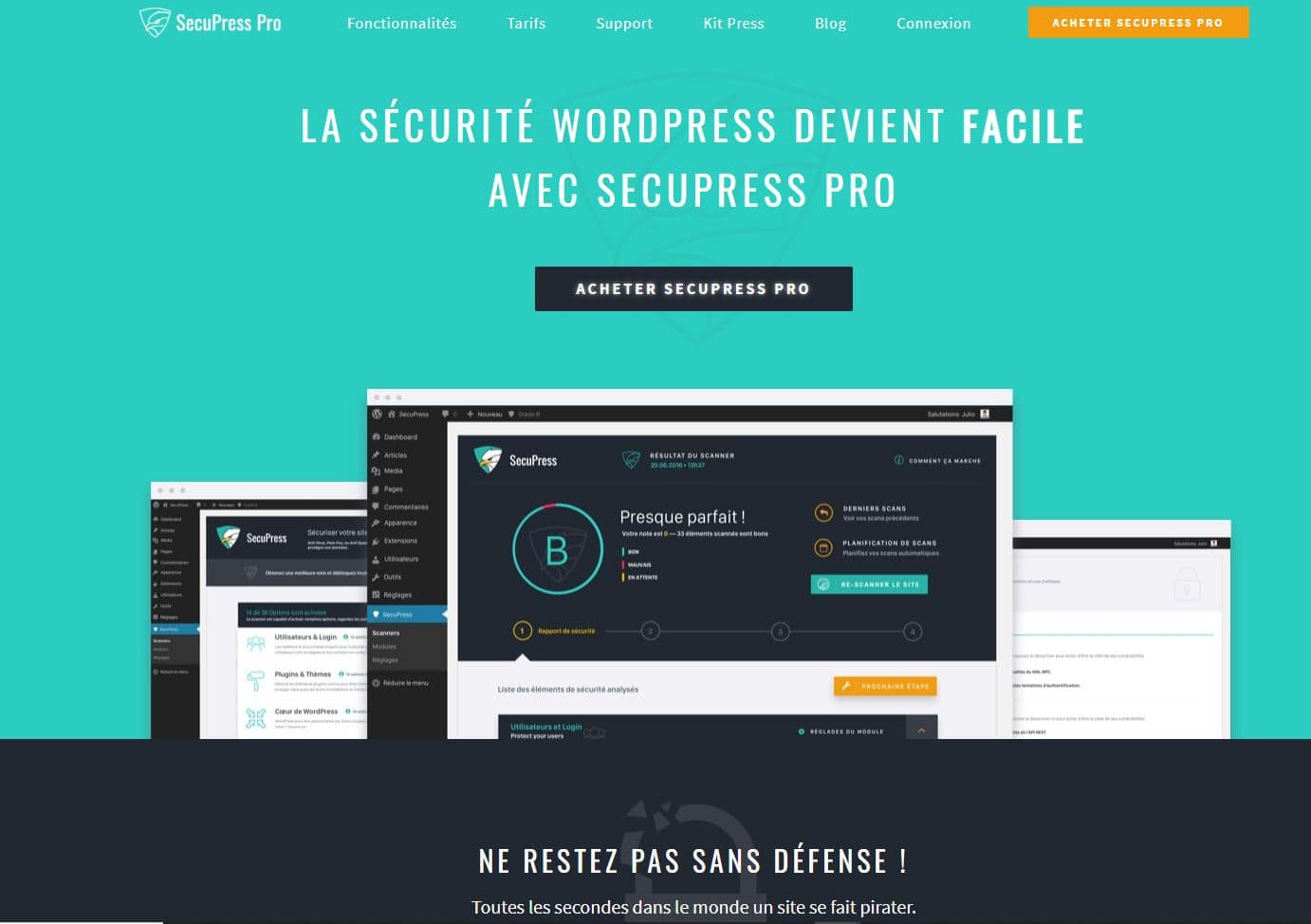 plugin sécurité site wordpress